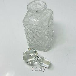 Vintage Crystal Glass Bottle Decanter Liquor Whiskey Wine Stopper Scotch Bar