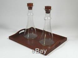 Vintage Dansk Wine Glass Carafe Teak