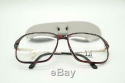 Vintage Dunhill 6095 30 Carbon Wine Red Gold Oval Glasses Frames NOS