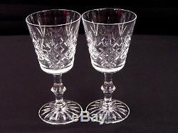 Vintage Edinburgh Crystal Lomond' White Wine Glass 6 Pc Set Scotland 5.5T EUC