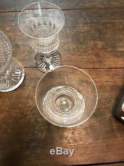 Vintage Edinburgh Crystal Thistle Cut Wine Decanter withSix Water Goblets