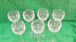 Vintage Estate WATERFORD Crystal DUNMORE Wine Hock Wine Glass Collection RETIRED
