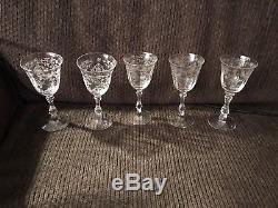 Vintage Fostoria Navarre Crystal #6016 Stem Clear 5 3/8 Wine Goblet(s)