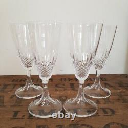 Vintage French Lalique Chinon Wine Glasses Set of Four 1950's