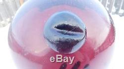 Vintage Genuine Japanese Wine Color Glass Float