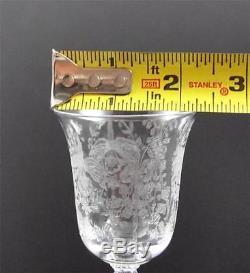 Vintage Heisey Orchid Etch Clear Crystal Stemware Goblet Wine Water Sherbet Y14