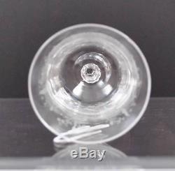 Vintage Heisey Orchid Etch Clear Crystal Stemware Goblet Wine Water Sherbet Y17