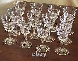 Vintage Irish Waterford Lismore Wine Glass 5 7/8 set of 12 all Immaculate NR