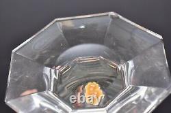 Vintage LARGE MOSER Copenhagen Crystal Wine Decanter Footed W Stopper (chip)
