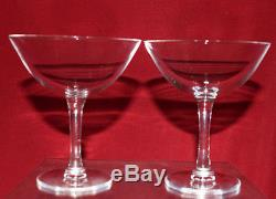 Vintage Lalique France Wine Glass lot of 2