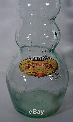 Vintage Large 31 Chianti Bardi Italy Glass Art Bottle Home Decor