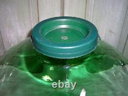 Vintage Large Italian Glass Green Demijohn Bottle Jar 18 X 12-1/2