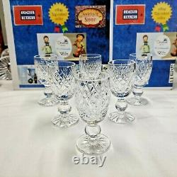 Vintage Lot of 6 Waterford Crystal Donegal 3 1/4 Cordial Glasses