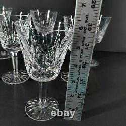 Vintage Lot of 6 Waterford Irish Crystal LISMORE 5 7/8 White Wine Goblets