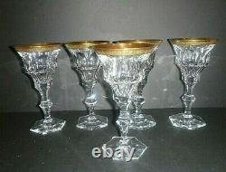 Vintage Moser Gold Encrusted Diplomate Water Goblet Wine Glass 7 3/8 RARE