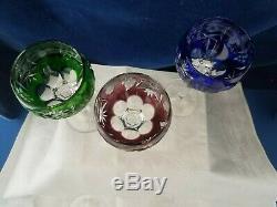 Vintage Nachtmann Traube crystal wine / hock glasses x 6! FREE UK P&P
