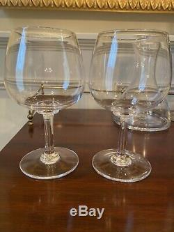 Vintage Never Used Simon Pearce Wine Caraffe & Set of 2 Woodstock Balloon Glass