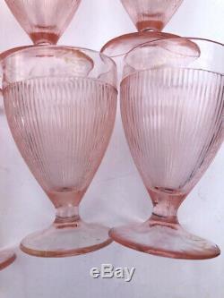 Vintage Pink Depression Glass line small Goblets Stemmed Lot of 10