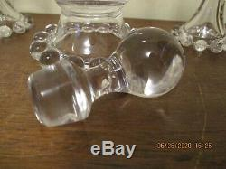 Vintage RARE Imperial Glass Candlewick Decanter WithStopper & RARE 5 Wine Glasses