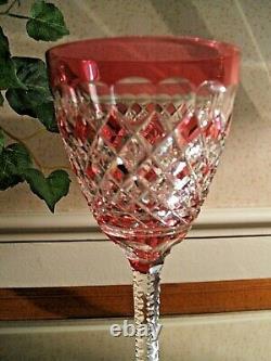 Vintage Roemer Wine Glass Crystal Val St. Lambert Gevaert Carlton Cranberry