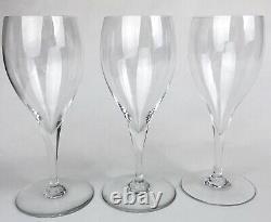 Vintage Set 3 BACCARAT ST REMY CLARET WINE WATER PEDESTAL GLASSES France Crystal