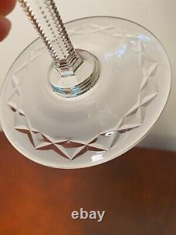 Vintage Set 5 GALLIA by ROGASKA Large 9.25 Crystal Water Goblets/Wine Glasses