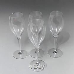 Vintage Set Of 4 Baccarat Crystal Saint Remy Wine Glasses 7h