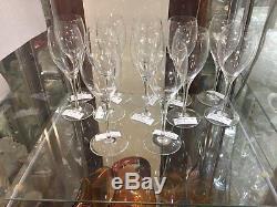 Vintage Signed BACCARAT Elegant Glass Set of 12 Wine Stems 7