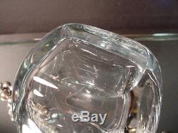 Vintage Stromberg Glass O. Hjertzell Wine Taster withSterling Grapes Sweden Retro
