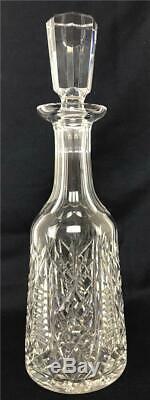 Vintage WATERFORD Clare Cut Crystal Wine Beverage Decanter Carafe Bottle Stopper