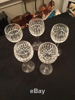 Vintage Waterford (5) Maeve Tramore 7.5 Wine Hocks Plus Bonus Glass