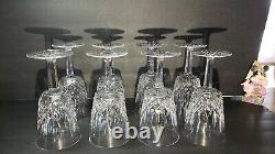 Vintage Waterford Crystal Lismore 6 7/8 Wine Goblets Gothic Mark Set of 8 EUC