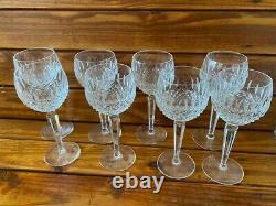 Vintage Waterford Crystal Set Of 8 Colleen 7 1/4 Wine Hock Goblets