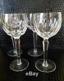 Vintage Waterford SHEILA WINE HOCK Glasses Set of 4 (1958) Ireland 7 3/8