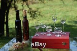 Vintage Wine Cordials MOSER Art Glass Cordial Set Six Snifters & Cordials