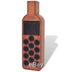 Vintage Wooden Wine Rack Brown Bottle Glass Holder Rack Storage Home Bar Cabinet