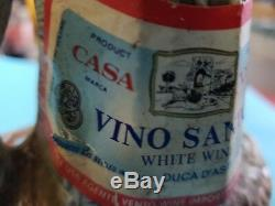 Vintage ship Captain at the helm Decanter Vino Santo White Wine Casa Vento