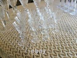 Vintage waterford crystal wine, water Sheri desert glasses Glenmore Cut