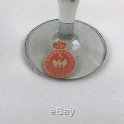 Vntg Mid Century Modern Holmegaard Lutken Canada Smoke Wine Glass Cups LOT OF 11