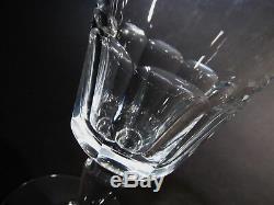 Vtg BACCARAT Crystal France BRETAGNE Panel 7 Wine Goblets