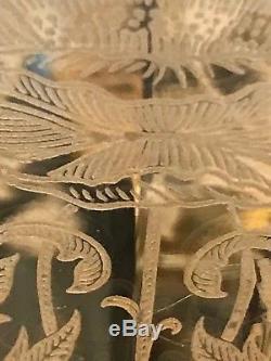 Vtg. Lot 10 Art Nouveau YELLOW Depression Glass WINE GLASSES Floral Design NICE
