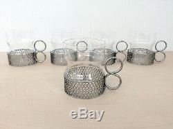 Vtg MCM 1950s 5 IITTALA TIMO SARPANEVA Tsaikka Tea Hot Wine Glasses Cups FINLAND