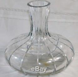 Vtg Rare Retired Large Baccarat Harmonie Cut Crystal Wine Carafe Open Decanter