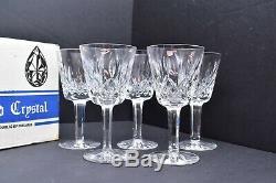 Vtg Waterford Crystal Lismore Claret Wine Water Set 5 Glasses Original Box
