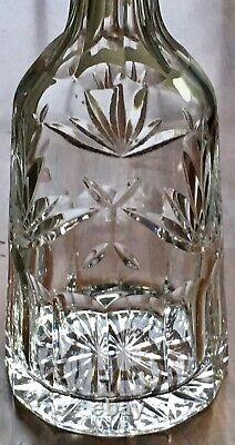 WATERFORD 13 Tall Crystal ASHLING WINE DECANTER Cut Fans, Foliage & Panels VTG
