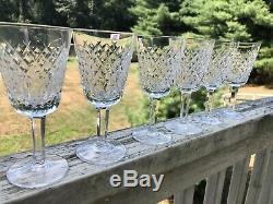 Waterford Crystal Alana Vintage White Wine Glasses (Set of 6) 5 5/8