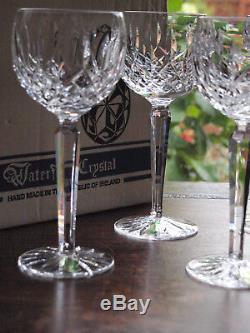 Waterford Crystal Lismore Hock Wine Glass Set of 6 Vintage Ireland