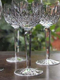 Waterford Crystal Lismore Hock Wine Glass Set of 6 Vintage Mint Ireland