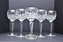 Waterford Crystal Lismore Pattern SET 6 VTG Wine Hocks Goblets Glasses IN BOX