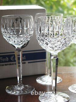 Waterford Crystal Tramore Hock Wine Glass Set of 6 Mint Vintage in Original Box